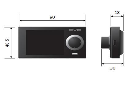 EVC Display Unit Size